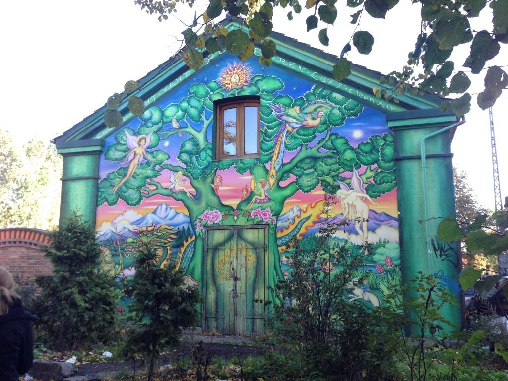 Mural in Christiania Copenhagen