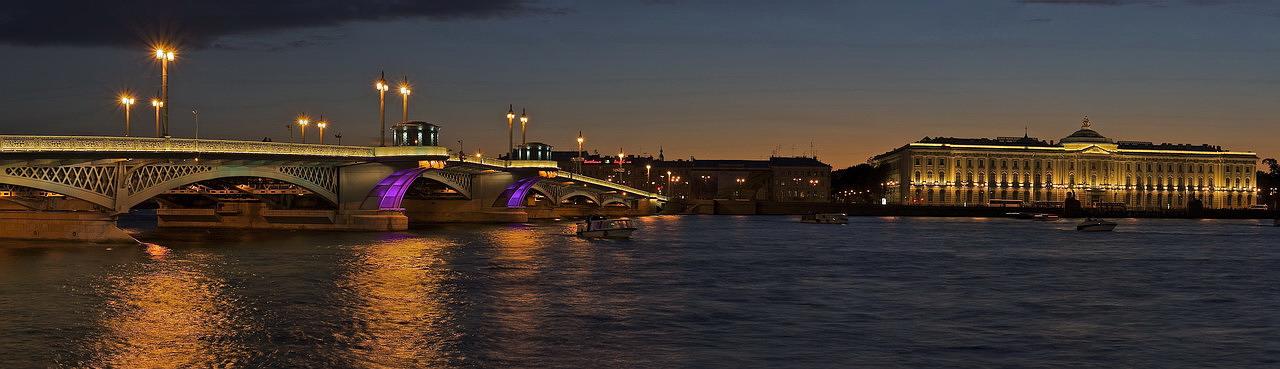 Blagoveshchensky Bridge Panoramic