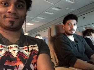 Joseph and Christian en route to Milan